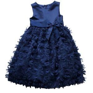 American Princess Around Flower Girl Petal Dress